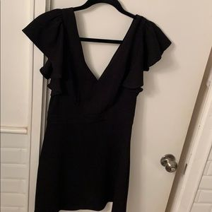 BRAND NEW w tags BCBGeneration black ruffled dress